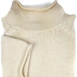 J. Crew Wool Turtleneck Sweater Sz Small Ivory S